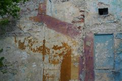Multi-colored wall of the house royalty free stock photography