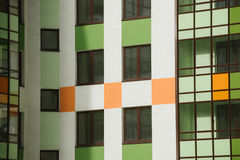 Multi-colored walls of apartment buildings. Stock Photography