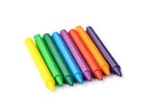 Multi-colored wax crayons Royalty Free Stock Photography