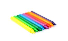 Multi-colored wax crayons Royalty Free Stock Photo