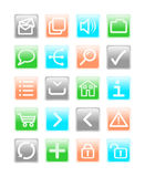 Multi colored web icons. Set of square multi-colored web icons royalty free illustration