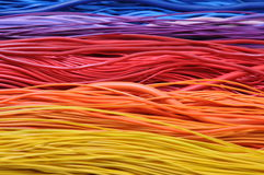 Multi-colored wires Stock Photos