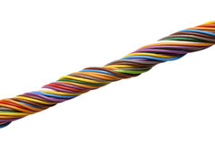 Multi colored wires Stock Image