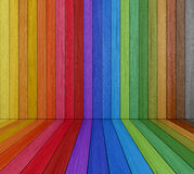 Multi colored Wooden Room Stock Image