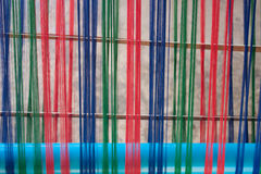Multi-colored yarn for weaving. Stock Photo