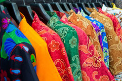 Multi colorful of chaina clothing Stock Photos