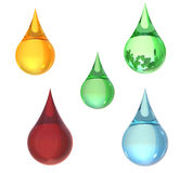 Multi colorful  drop. Oil drop,water drop,blood drop Royalty Free Stock Image