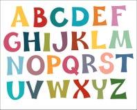 Multi colori di alfabeto inglese Fotografia Stock