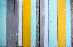 Multi colorido de madeira Fotografia de Stock