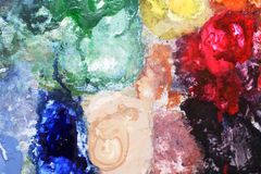 Multi colors. By fabric paints Royalty Free Stock Photography