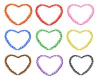 Multi Colors Noose in The Shape of Heart Royalty Free Stock Photography