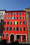 Multi colour. Multicolour house with multiple windows Royalty Free Stock Photography