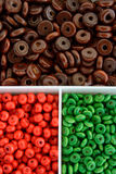 Multi colour beads Stock Photography