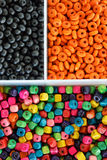 Multi colour beads Royalty Free Stock Images