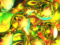 Multi colour bubbles. 3d artwork Stock Photos
