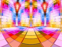 Multi Colour Mosaic Room Stock Photos