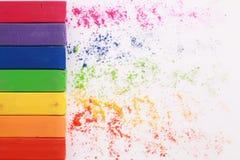 Pastel background. Multi colour pastel chalks background Royalty Free Stock Image
