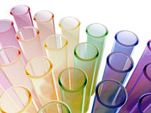 Multi colour test tubes. A set of multi colour test tubes Stock Photos