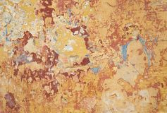 Multi colour and texture paint on wall. Multi colour and abstract texture peeling pastel paint on old wall Royalty Free Stock Photos
