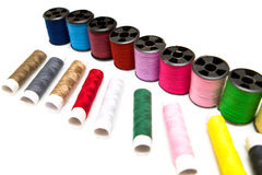 Multi colour threads Stock Image