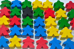 multi colour wooden human figures Stock Photo