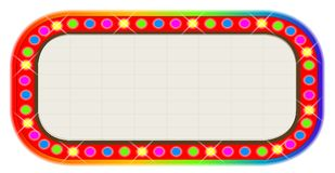 Multi Coloure Cinema Marquee Over White Background. A multi coloured light bulbcinema or theatre marquee Royalty Free Stock Image