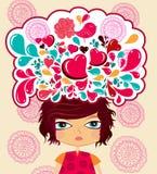 Multi-coloured Ñartoon illustration royaltyfri illustrationer