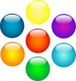 Multi-coloured ballen Stock Afbeeldingen