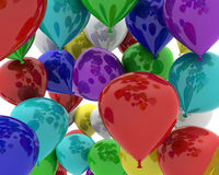 Multi coloured balloons Stock Photography