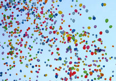 Multi-coloured balloons Royalty Free Stock Image