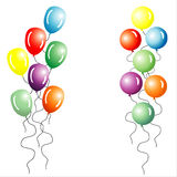 Multi-coloured Balloons. Colorful Balloons on a white background. Vector File royalty free illustration