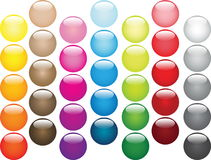 Multi-coloured balls' set Stock Photo