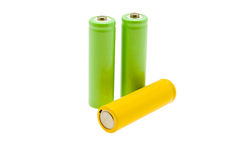Multi-coloured batteries royalty free stock images