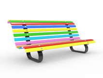 Multi-coloured Bench on White Background Royalty Free Stock Photos