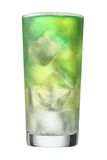 Multi coloured beverage. Cocktail. Including steerer isolated on white background. Clipping path included Stock Image