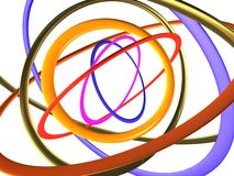 Multi-coloured big rings Royalty Free Stock Images