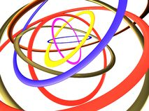 Multi-coloured big rings Stock Photo