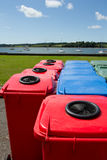 Multi-coloured bins. Royalty Free Stock Photo