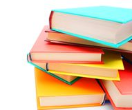 Multi-coloured books. Royalty Free Stock Image