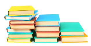 Multi-coloured books. On white background. Stock Images