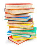 Multi-coloured books. On white background. Royalty Free Stock Photo