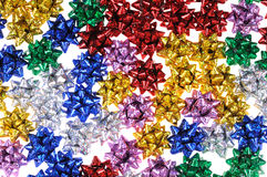 Multi-coloured bows Royalty Free Stock Photos