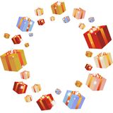 Multi-coloured boxes Royalty Free Stock Images