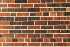Multi coloured brick wall background Royalty Free Stock Photography