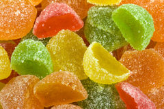 Multi-coloured bright sugar fruit jelly Royalty Free Stock Photography