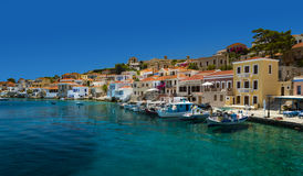 Free Multi-coloured Buildings Of Halki Island (Chalki) Royalty Free Stock Photos - 58048328