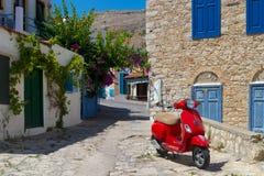 Free Multi-coloured Buildings Of Halki Island (Chalki) Stock Image - 58048361