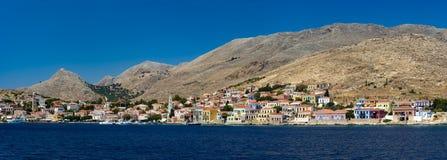 Free Multi-coloured Buildings Of Halki Island (Chalki) Royalty Free Stock Photos - 58048518