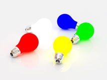 Multi-coloured bulbs Royalty Free Stock Photos