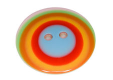 Multi-coloured button for clothes isolated Stock Photos
